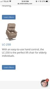 Assisted lift chair