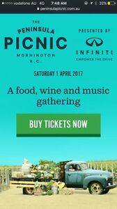 Peninsula Picnic Tickets X 2 - 1st April Berwick Casey Area Preview