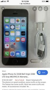 iPhone 5S 32GB - Unlocked - Mint Condition