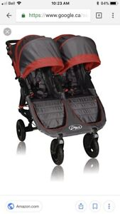 Double Stroller - Baby Jogger City Mini GT + bassinet!