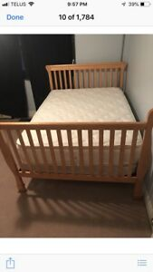 Full size head and foot board(can be a crib too) with chest