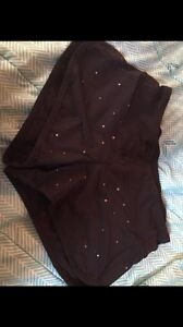 Rare lululemon black metallic bronze star lux shorts