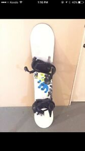 Burton snowboard with bindings