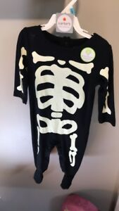 Carter's six month skeleton outfit