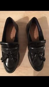 Black loafers zara shoes