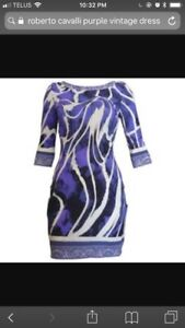 Roberto cavalli purple vintage dress