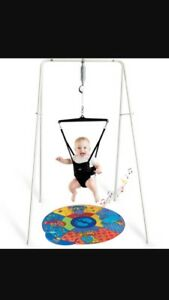 Jolly jumper with stand and music mat