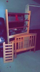 REAL Apple Oak WOOD toddler bed