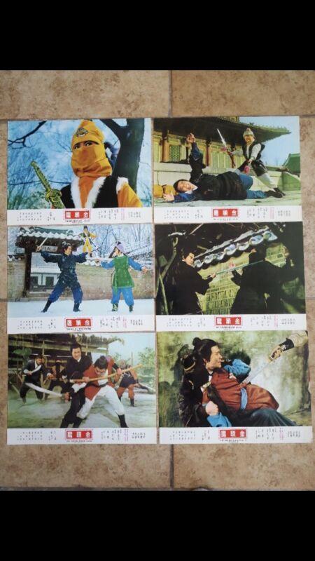 GOLDEN HEADED EAGLE Original 12 Lobby cards 1970 Martial Arts Movie NEW w/ bonus