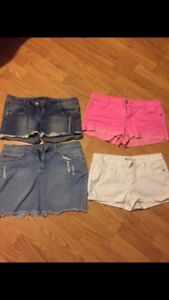 Shorts and skirt size 9