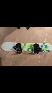 Women's burton feather snowboard and boots
