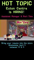 HOT TOPIC (Eaton Centre) is Hiring!