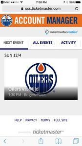 Oilers vs Wild, Section 105 Row 23 Awesome Seats