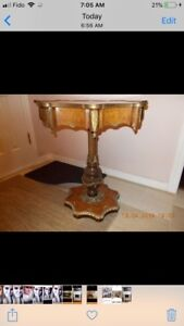 French Louis accent table / console