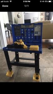Tool bench with put together truck and tools