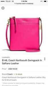 Coach purse Ruby Pink