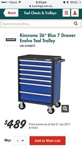 """WTB: Kincrome 26"""" Blue 5,6 or 7 Drawer Evolve Tool Trolley Ryde Ryde Area Preview"""