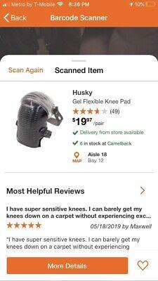 Husky Flexible Knee Pads - Construction Knee Pad