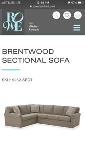 Rowe Furniture Brentwood Sectional Sofa