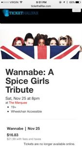 ISO: One ticket to Spice Girls Tribute at Marquee Nov 25