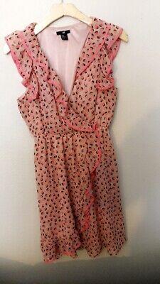 Pink Polk Dot Dress H&M size 12