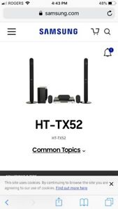 Samsung Home Theatre System HT-TX52 System