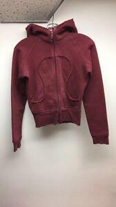 Lululemon burgundy zip up