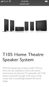 Kef high end home theatre speakers 5.1  system