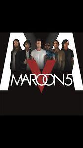 2 tickets to Maroon 5 in Hamilton