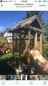 Play structure and swing
