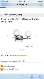 Kichler Jasper bathroom vanity light