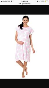 New with tags, Gownies Hospital gown plus pillow case