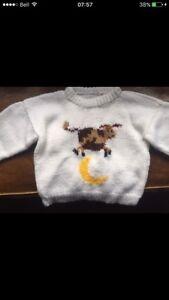 Handmade Knitted Sweater. 12-18 months