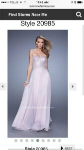 La Femme Evening Gown/Prom Dress-Pastel Pink