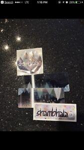 3 hard copy shambhala tickets