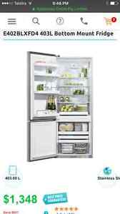Fisher and Paykel E402BL silver fridge Naremburn Willoughby Area Preview