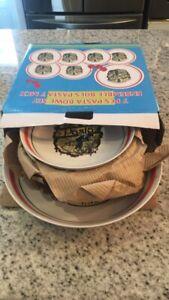 Ensemble de 7 bols à pâtes (1 de 11'' et 6 de 8'')