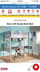 NEW IN BOX STAX LOFT STUDY BUNK