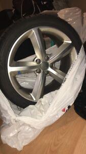 245 40 18 hankook winter tires original audi rims