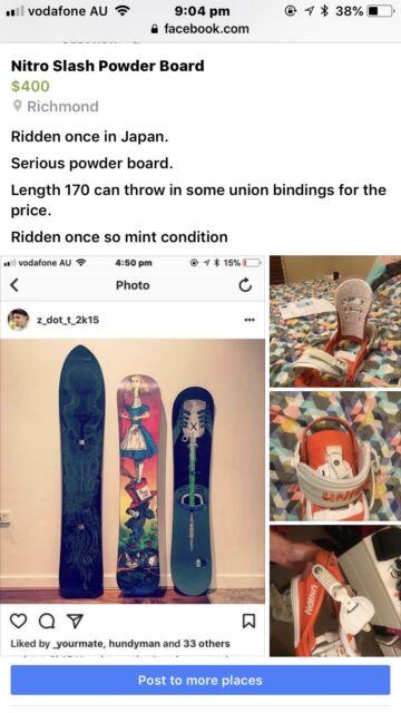 Nitro Slash Powder Board with Union Bindings | Snow Sports