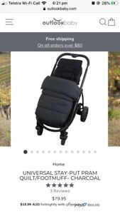Universal footmuff, fits all pram and strollers including babyzen yoyo