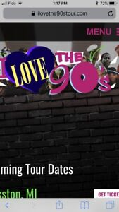 3 I love the 90's concert tickets - August. 18