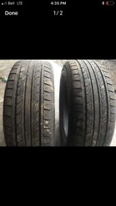 Two summer tires 195/60r15 lots of tread $60 text 902 223 2108
