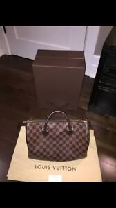 LOUIS VUITTON SPEEDY 30 DAMIER LEATHER CANVAS