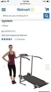 Magnetic manual Treadmill almost without use