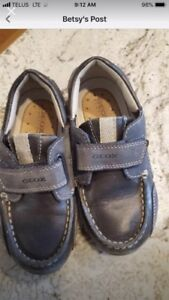 Boys geox dress shoes size 10.5 toddler
