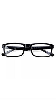 Breeze Black Frame Glasses Fashion Rectangle Fake Nerd Smart Clear Lens (Rectangle Frame Glasses)