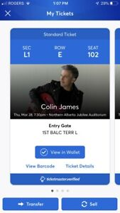 Colin James Tickets