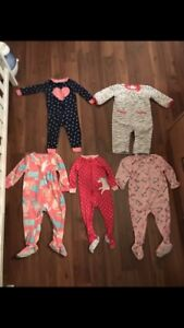 Baby girls clothing lot sizes 9 months & 12 months