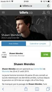 Shawn Mendes The Tour Montreal ( 2 tickets )